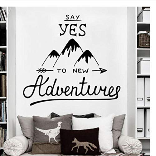 Zkpyy Explorer Travel Vinyl Muursticker Decoratieve muursticker Avontuur Quote Resource Manager Yamagata Applique Muursticker 56X61Cm