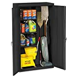 Tennsco Janitorial Cabinet, 36' by 18' by 64', Black
