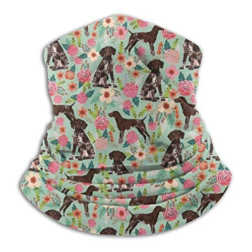 KDU Fashion Scarf hoofdband, Duits kort haar pointer Floral Dog Scarf hoofdband, polyester hoofdbanden voor sport hardlopen