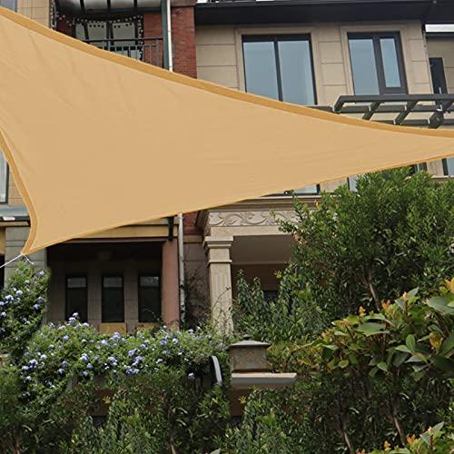 Patio Shack Tenda a Vela Impermeabile Triangolare 2x2x2 m, Vela Ombreggiante Triangolare 2x2x2, Tenda da Sole per Esterno, Giardino Terrazza, Sabbia