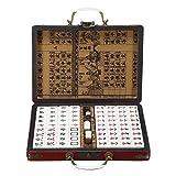 Herramienta EDC Junta partido divertido del juguete del juego portátil retro caja Mahjong chino raro 144 fichas Mah Jong-Set EDC Hombres