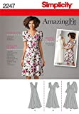 Simplicity Amazing Fit Collection Women's Summer Dress Sewing Pattern, Sizes 20W-28W