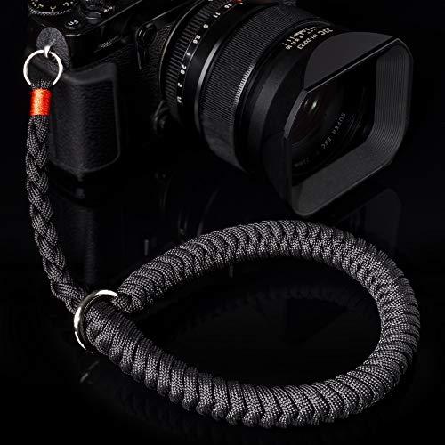 Camera Wrist Strap (Black) Hand-Woven Paracord Camera Hand Strap, Suitable for Nikon Sony Canon Panasonic Fujifilm Olympus, DSLR SLR Mirrorless Camera