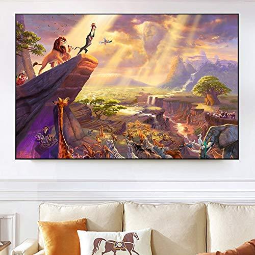Poster e Stampe di Cartoni Animati Classici su Tela Wall Art Pittura Camera dei Bambini Immagine del Film Decorazione Decorazione 50X75CM