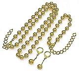 YOUZYHG co.,ltd Halskette Perlen Halskette Ohrringe Armband Schmuck Für Frauen Ball Perlen Gold...