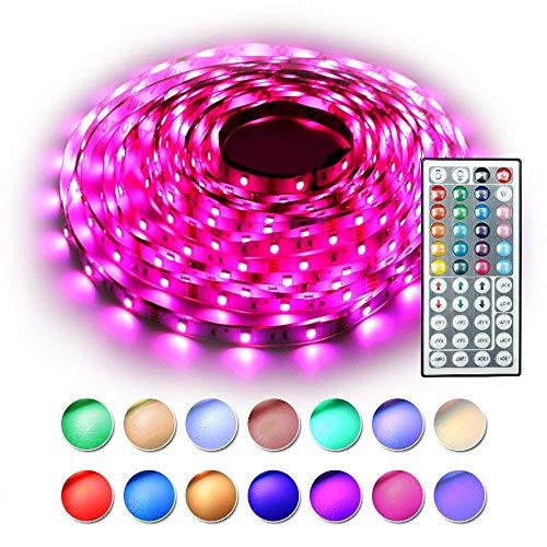 Led Ruban Commande Vocale Bande LED Alimentation D/énergie DC 12V Imperm/éable Pour D/écoration Plafond Maison Partie Foeska Bande LED 5m 5050 Lumi/ère RVB avec 150 LEDs