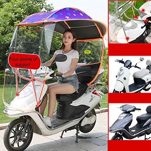 Universele buiten elektrische batterij auto luifel zonnescherm zonnescherm, paraplu batterij fiets voorruit verdikking blok wind en regen voor auto motor scooter