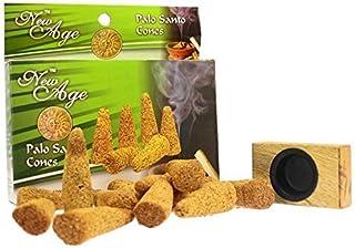 New Age Imports Palo Santo Cones with burner, 12 cones