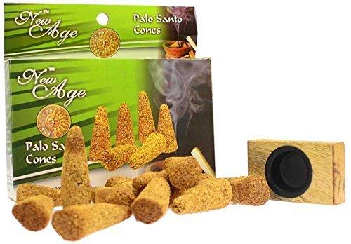 New Age Imports Palo Santo Cones, 12 Cones with Wooden Burner