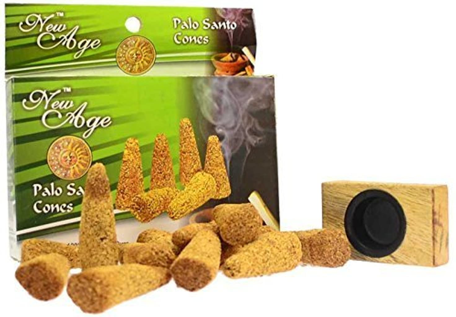 着る次へ速報New Age Imports Palo Santo Cones with burner, 12 cones