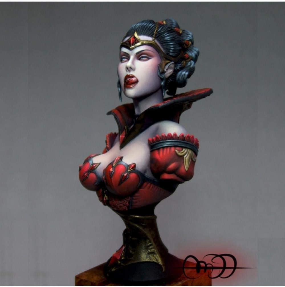 XINGCHANG 1 10 Kharis -Zombie 商い Bride Resin 最新 Red Mode Bust Toy Coat