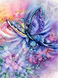 Diamond Painting Kits for Adults/kids DIY 5D Mariposa,Full Drill Crystal Rhinestone by Number Canvas Painting Set Embroidery Cross Stitch Arts Craft for Home Wall Decor 50x70cm(19.7x27.6in) D41063