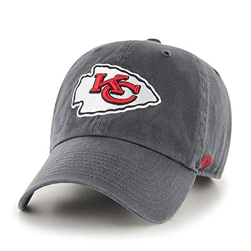 '47 NFL Authentic Kansas City Chiefs Clean Up Adjustable Hat, One Size Fits All