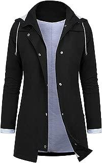 Women Rain Jacket Outdoor Plus Size Tops Waterproof Hooded Raincoat Windproof Coat