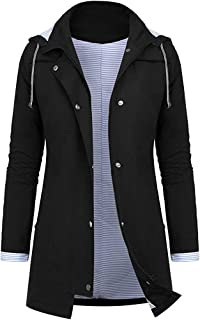 HIMISSU Women Wool Coat Plus Size Jacket Button Plush Tops Hooded Loose Cardigan Winter Jacket Solid Color Pullover Tunic Tops Autumn Fleece Hoodies Crew Neck Blouse Tops Fleece Pullover