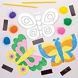 Baker Ross- Kits de imanes de mariposas para decorar con arena (Pack de 6) - Actividad de...