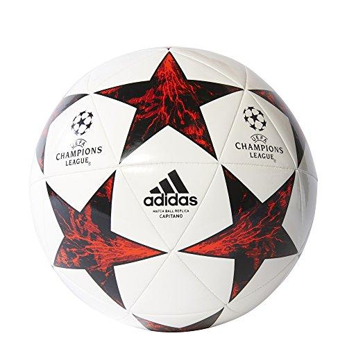 adidas Finale 17 cap, Pallone Uomo, Bianco (Bianco/Nero/Rojvic/Rojsol), 5