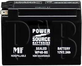 GT4B-5, YT4B-BS, YT4B-5, PTX4B-BS, UT4B-BS, GT4B5 Replacement Battery 50cca High Performance WP4B-BS Sealed AGM for Yamaha, Suzuki DR-Z70, TTR-50E, TTR50E, TTR-90E, TTR90E Motorcycles