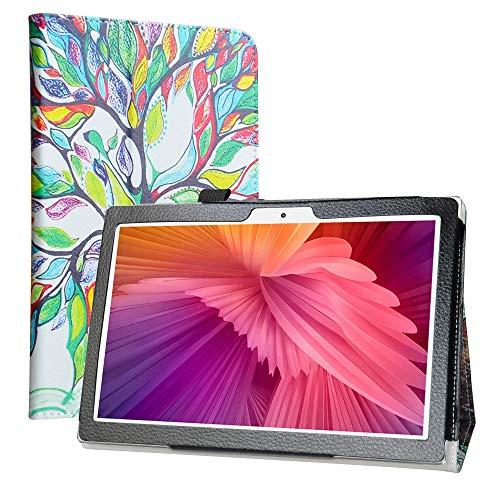Labanema Funda para TECLAST M30 10.1 Inch Tablet, Slim Fit Carcasa de Cuero Sintético con Función de Soporte Folio Case Cover para 10.1