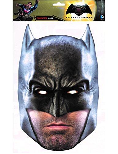 COOLMP  Juego de 3 mscaras de cartn, diseo de Batman el amanecer de la justicia, talla nica, mscara de fiesta, accesorio para disfraces, carnaval, cumpleaos, tema, lobo, pasamontaas