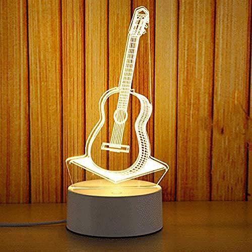 wangzj violin-Q Night Lights Lámpara de noche Luces de habitación Lámpara de regalo 3D led Lámpara de escritorio de ahorro de energía Decoración para el hogar