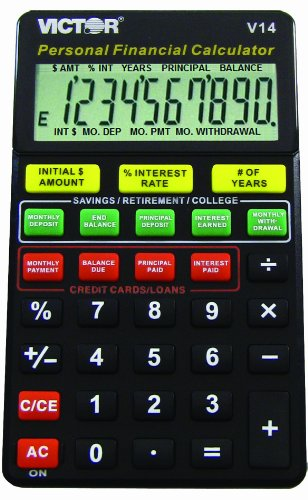 Victor V14 Personal Financial Calculator for Dummies, Black