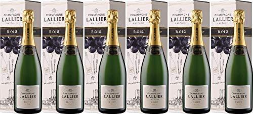 6x R.014 Brut - Magnum - in Geschenkkartonage 2013 - Champagne Lallier, Champagne - Weißwein