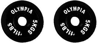 Ader Olympic Black Plate Pair- 5 Kilogram