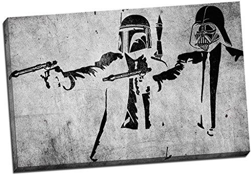 Banksy Pulp Fiction LeinwandBild Storm Troopers Wand Art Großer 76,2x 50,8cm (76.2cm x 50.8cm)