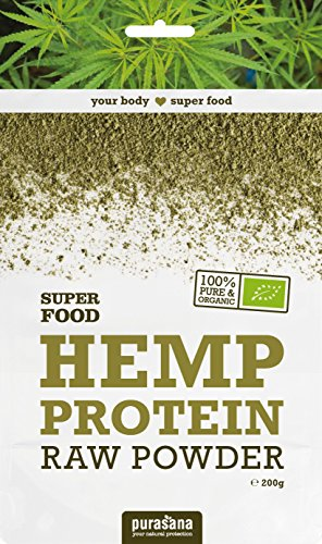 Protéines de chanvre Bio, qualité crues, sans additif - idéal pour Végétarien | 200g | Purasana