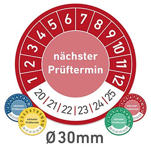 Nächster Prüftermin Prüfplaketten Wartungsplaketten 30mm (100, rot)