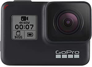 GoPro Hero7 Black — Waterproof Action Camera with Touch Screen 4K Ultra HD Video 12MP Photos 720p Live Streaming Stabiliza...