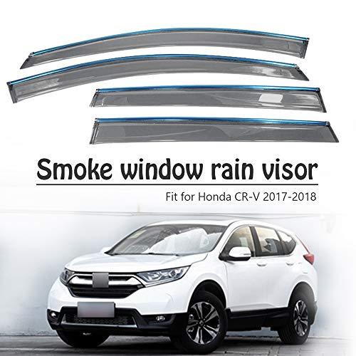 BTSDLXX 4Pcs Car Side Fensterabweiser Windabweiser, für Honda CR-V 2017 2018 Weathershields Window Visier, Fenster Schutz Sonne Regen Dunkel Rauchabzug Schatten Auto Zubehör
