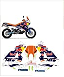 GRAPHICSMOTO set pegatinas decal stickers compatible lc8 990 950 adventure mrw toro dakar 2012 (ability to customize the colors)