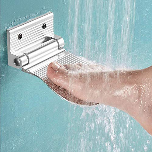 RENNICOCO Dusche Schritt Aluminiumlegierung Badezimmer Fußstütze Dusche Rasieren Fußstütze Schritt Bein Hilfe Dusche Schritt für Home Hotel Badezimmer verwenden