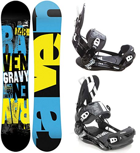 RAVEN Snowboard Set: Snowboard Gravy 2020 + Bindung Fastec FT500 (161cm Wide + FT500 Black XL)