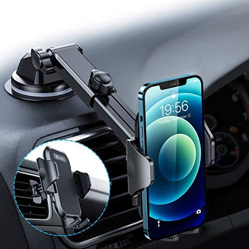 andobil Handyhalterung Auto Saugnapf & Lüftung Upgrade 4,0 Ultra Stabile 3 in 1 Universale Kfz Handyhalterung 360° Drehbar Handyhalter Auto für iPhone 12 11 Samsung S10 Note 10 Huawei Xiaomi LG usw