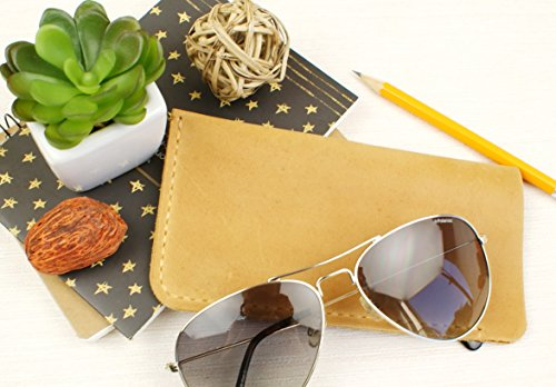 Soft Eyeglass Case Real Crazy Horse Leather - Eyeglass Case - Engraving is