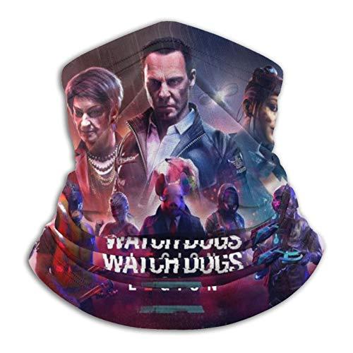 Wa-Tc-h pretty D-Ogs Le-Gi-On Bandana Neck Gaiter Face Cover Reusable Washable Balaclava Scarf Headband Headwrap Neckwarmer,Black,One Size