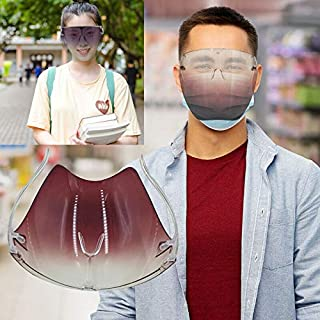 Transparent Gradient Blocc Glasses Safety Face Shield Protective, Clear Anti Droplet Saliva Glasses, Outdoor Running Cycli...