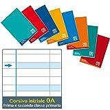5 maxi quaderni one color didattico per disgrafia A4 rigo A 1-2 elementare