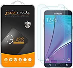 Supershieldz (2 Pack) for Samsung Galaxy Note 5 Tempered Glass Screen Protector, 0.33mm, Anti Scratch, Bubble Free