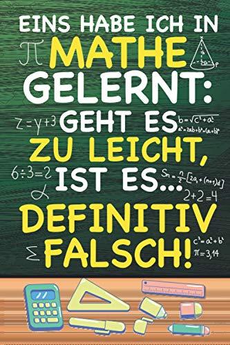 Eins habe ich in Mathe gelernt: XXL MATHE NOTIZBUCH 6:9 - 150 punktierte Seiten - für Mathematik Übungsaufgaben, Notizen, Nebenrechnungen, Skizzen, ... & Lehrer - Matheheft für Schule & Uni