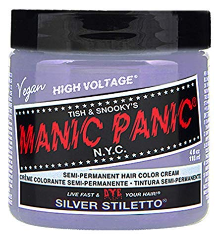 Manic Panic - Silver Stiletto Classic Creme Vegan Cruelty Free Silver Semi Permanent Hair Dye 118ml