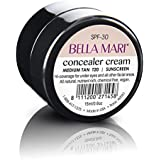 Natural Concealer Cream by Bella Mari (Medium Tan T20, 0.5 Fl Oz Glass Jar) - Made with Organic Ingredients - No Toxic Synthetic Chemicals - TSA-Approved Travel Size