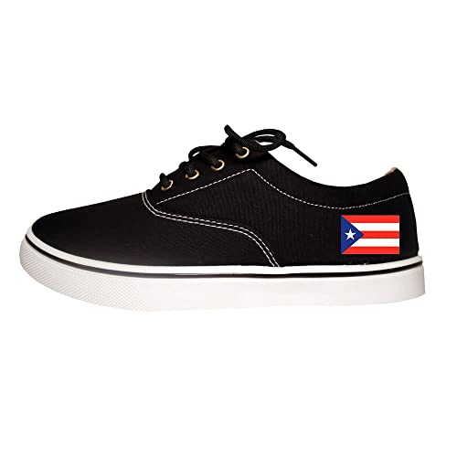 107eb21f1 Puerto Rico Flag Country Mens Casual Canvas Sneakers