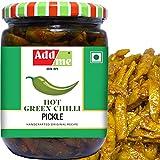 Add me Home Made Hot Green Chilli Pickles 500 gm Hari Mirch Mirchi