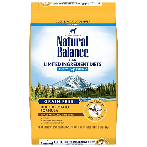 Natural Balance L.I.D. Limited Ingredient Diets Dry Puppy Food, Duck & Potato Puppy Formula, 24 Pounds