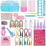 Quilling Kit Complete Quilling Paper Set with 1680 Strips All Necessary Tools and Storage Box Suitcase for Beginners, Advanced Quiller, Kids and Adults (Set with Box)