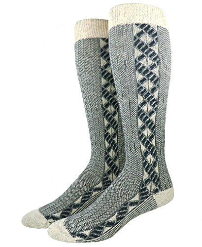 Rohner advanced socks Oktoberfest Kniebundhosen Strümpfe, Farben alle:001 beige/jeans, Größe:44/45
